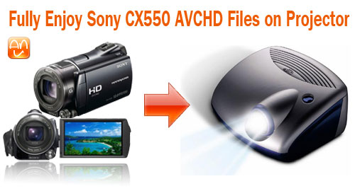 CX550 AVCHD on Projector